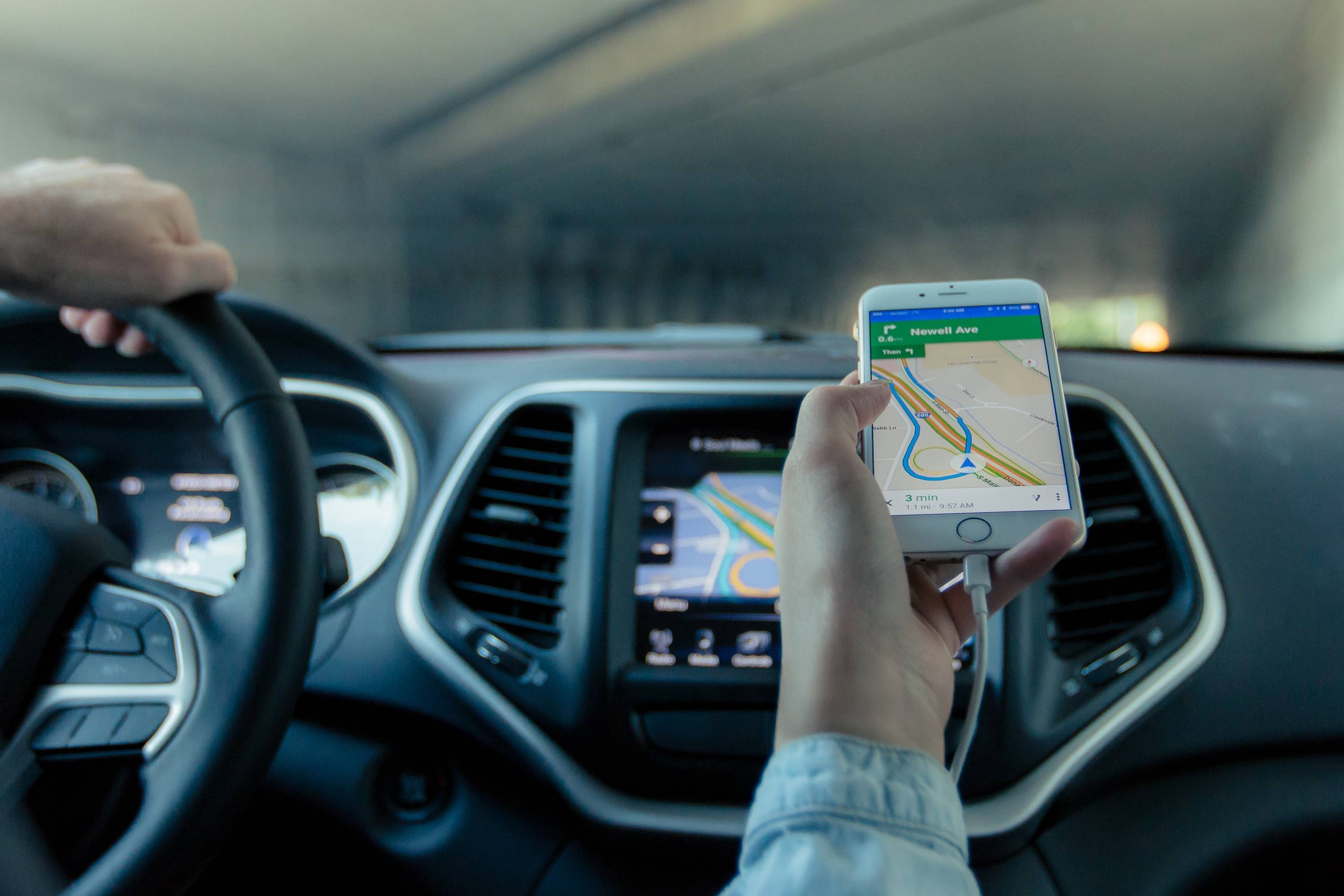apple maps on iphone passenger navigating driver - Protect Your IPO